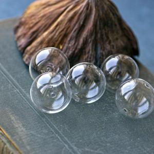 Бусина круглая Лэмпворк, прозрачный, 16 мм...