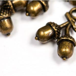 Подвеска металлическая в виде желудей, античная бронза,...