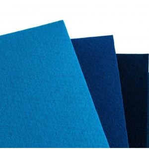 Набор фетра 4 больших листа в сине-голубых оттенках...