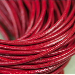 Шнур кожаный, цвет красный, диаметр 2.5 мм...