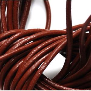 Шнур кожаный, цвет коричневый, диаметр 2.5 мм...