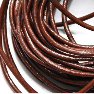 Кожаный шнур, шоколадный, диаметр 2.5 мм...