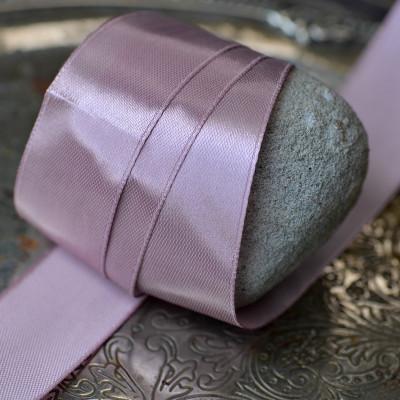 Лента, атлас, цвет сиреневый, ширина 25 мм