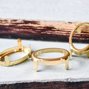 Цапы формы капля, открытые, цвет золото, 30х20 мм...