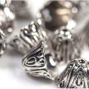 Колпачок для бусин, античное серебро, 15x10 мм...