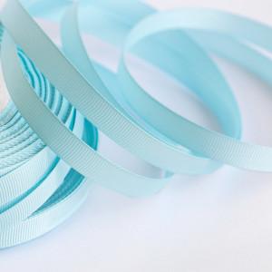 Репсовая лента, светло-голубой, ширина 10 мм...