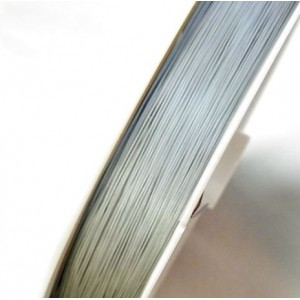 Тросик ювелирный в оплетке, белый. толщина 0.38 мм, дли...