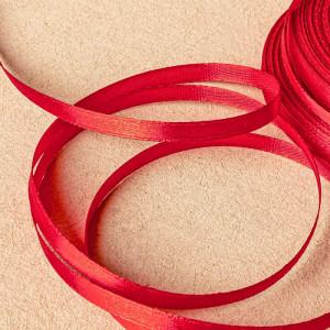 Атласная лента, красный, ширина 6 мм...