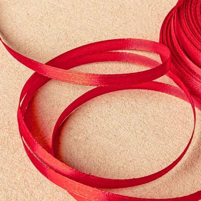Атласная лента, красный, ширина 6 мм