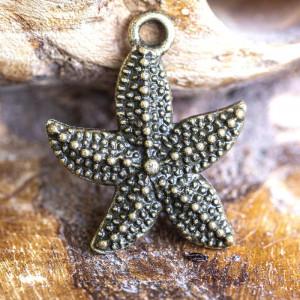 Подвеска металлическая в форме морской звезды, античная...