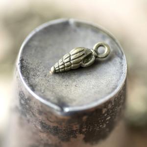 Подвеска металлическая в виде ракушки, античная бронза,...