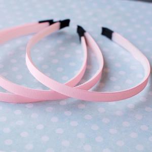 Основа для ободка, пластик с лентой, розовый, 110-140x9...