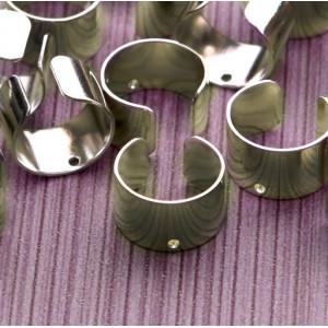 Основы для каффов, платина, 10х9.5х6 мм...