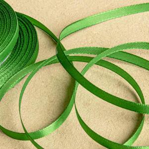 Атласная лента, яркий зеленый, ширина 6 мм...