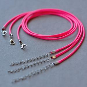 Основа для ожерелья, вощеный шнур, малиновый, 450х2 мм...