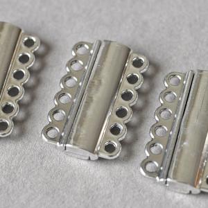 Застежка магнитная, цв. платина, 34x21x6 мм...