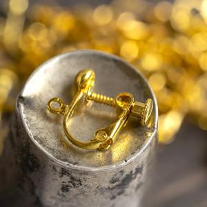 Заготовка для клипс, цв. золото, 18х13х4 мм...