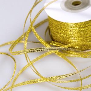 Парчовая лента, золотистый металлик, ширина 3 мм...