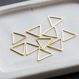 Подвеска металлическая, рамка, цвет золото, 15x13x1 мм...