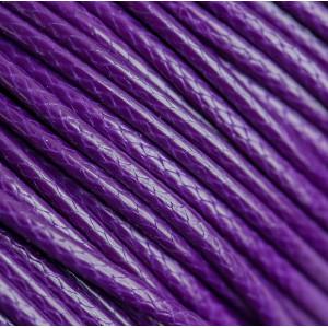 Шнур вощеный синт., фиолетовый, 2 мм...
