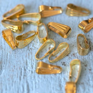 Бейл зажимной, цв. золото, 8,5х3,5 мм...