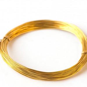 Проволока алюминиевая, цвет золотой, 1 мм, 10 м...