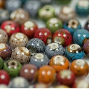 Бусина керамическая круглая, разные цвета, 10 мм...