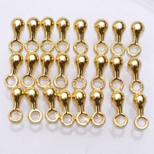 Окончание для цепочки, золотой, 7х2.5 мм (30 шт)...