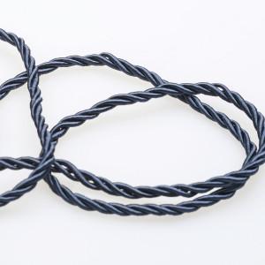 Витой полиэстеровый шнур, темный синий, 3,5 мм...