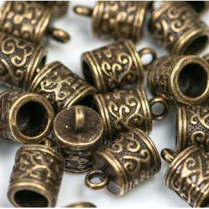 Концевик для шнура, античная бронза, 13x8.5 мм...