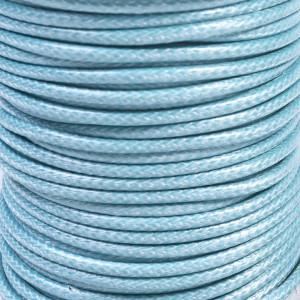 Шнур вощеный синт., небесно-голубой, 3 мм...