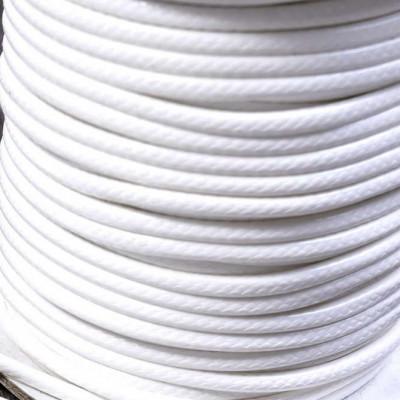 Шнур вощеный синт., белый, 3 мм