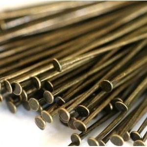 Пины-штифты-гвоздики, бронза, 50х0.7 мм (150 шт)...