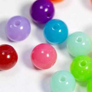 Бусина акриловая круглая, разные цвета в асс., 8 мм...