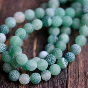 Бусины агата, цвет грязный зеленый, окрашен., 8 мм...