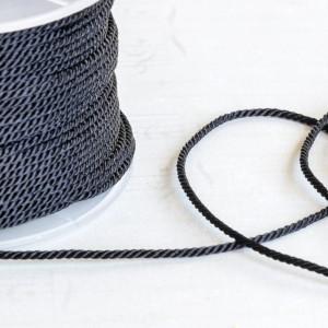 Витой полиэстеровый шнур, черный, 1,5 мм...