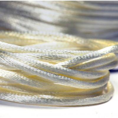 Атласный шнур для кумихимо, сливочный, 2 мм