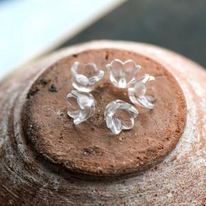 Бусина-колпачок акриловая, цв. прозрачный, 10х6 мм...