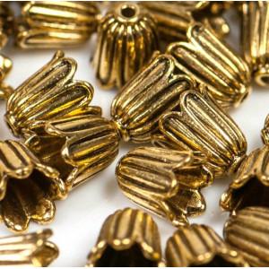 Колпачок для бусин, античное золото, 10х10 мм...