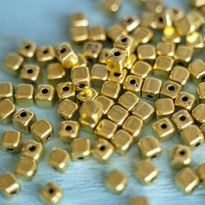 Разделитель для бусин, цв. античное золото, 4х4х4 мм (2...