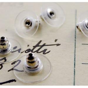 Фиксаторы (застежки) для сережек, платина, 12х7 мм...