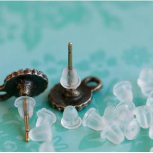Фиксаторы (застежки) для сережек, 5х4 мм...