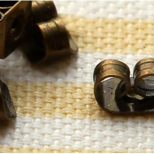 Фиксаторы (застежки) для сережек, античная бронза, 5.5х...