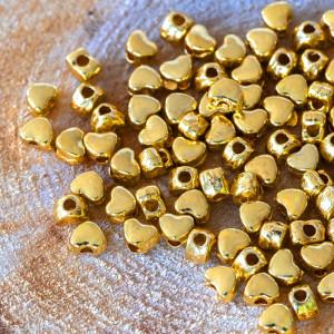 Разделитель для бусин, золото, 4х3,5 мм (50 шт)...