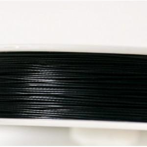 Тросик ювелирный в оплетке, черный, толщина 0.38 мм, дл...