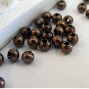 Бусины металлические, медь, 4 мм (уп 30шт)...