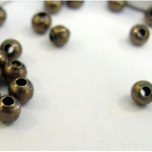 Бусины металлические, античная бронза, 4 мм (уп 30шт)...