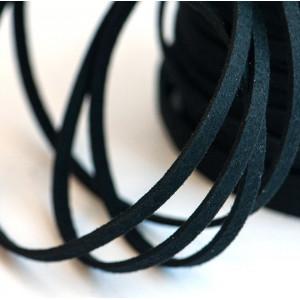 Шнур из искусственной замши, черный, 5х1.5 мм...