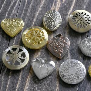 Подвески из металла в виде медальонов, разных цветов и ...
