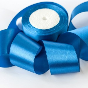 Атласная лента, ярко-синий, ширина 50 мм...